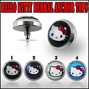 Nakrętka dermal anchor Hello Kitty piercing (mi27)